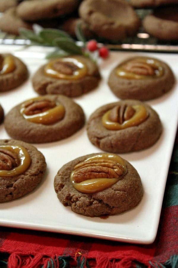 Chocolate Turtle Cookies recipe - RecipeGirl.com