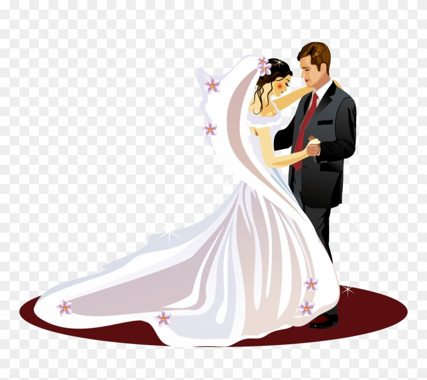Download Hd Wedding Invitation Bridegroom Clip Art Bride And Groom Vector Png Transparent Png And Use The Free Clipart For Your Cr Bride Groom Clip Art Bride