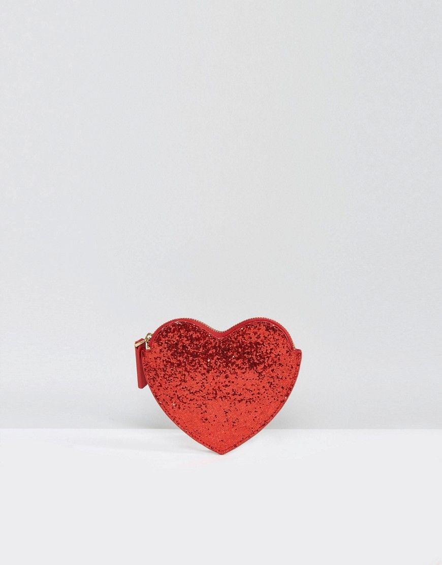 Red Glitter Heart Purse - Red glitter Lulu Guinness obA2RbPOlO