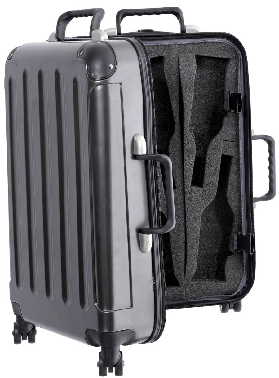 Wine Carrying Case This Rolling Suitcase Designed For Transporting Bottles Holds Up To A Full Case Snuggled Securely In Foam Special Inserts Adega Transporte