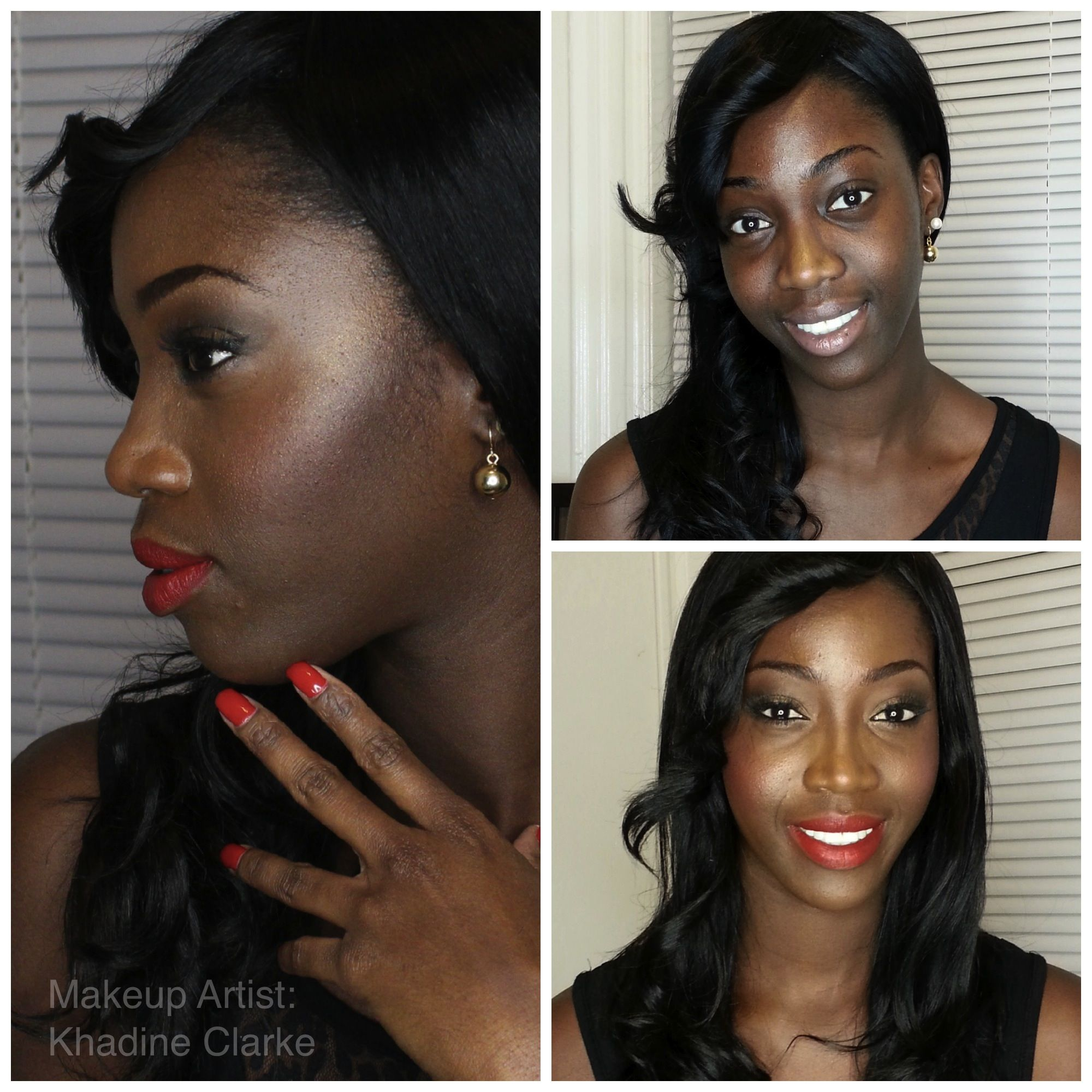 New Year's Eve Makeover. Red Lips on Dark Skin. She's ...
