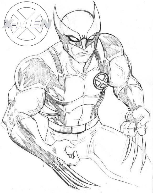 printable x men fictional superhero coloring page in 2020