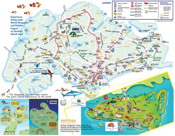 nice singapore map tourist attractions