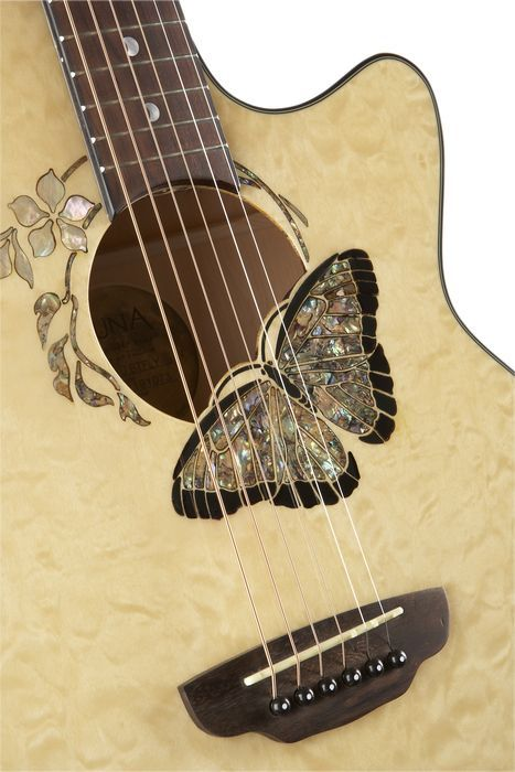 Luna Guitars Fauna Butterfly Acoustic Electric Guitar Luna Guitars Guitar Guitar Design