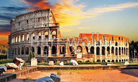 """great Colosseum on sunset, Rome"" - Rome posters and prints available at Barewalls.com"