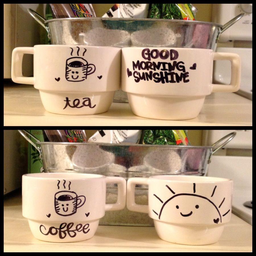 sharpie mugs Pinterest inspired Diy mug designs, Diy