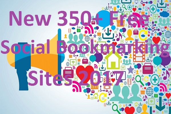 New 350+ Social Bookmarking Sites for quality backlinks 2017