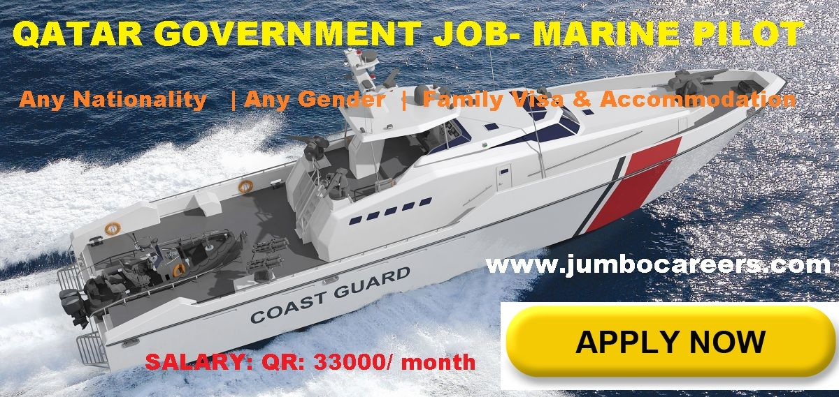 Latest marine jobs in Qatar 2018, Marine pilot job vacancy
