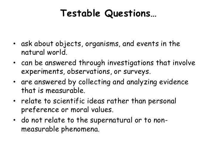 testable questions - Google Search | 5th Grade - Science ...