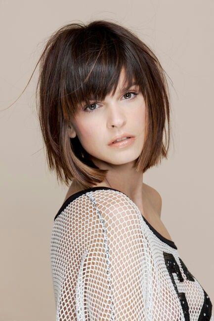 12 formal hairstyles with short hair office haircut ideas for messy layered chin length bob with heavy bangs urmus Image collections