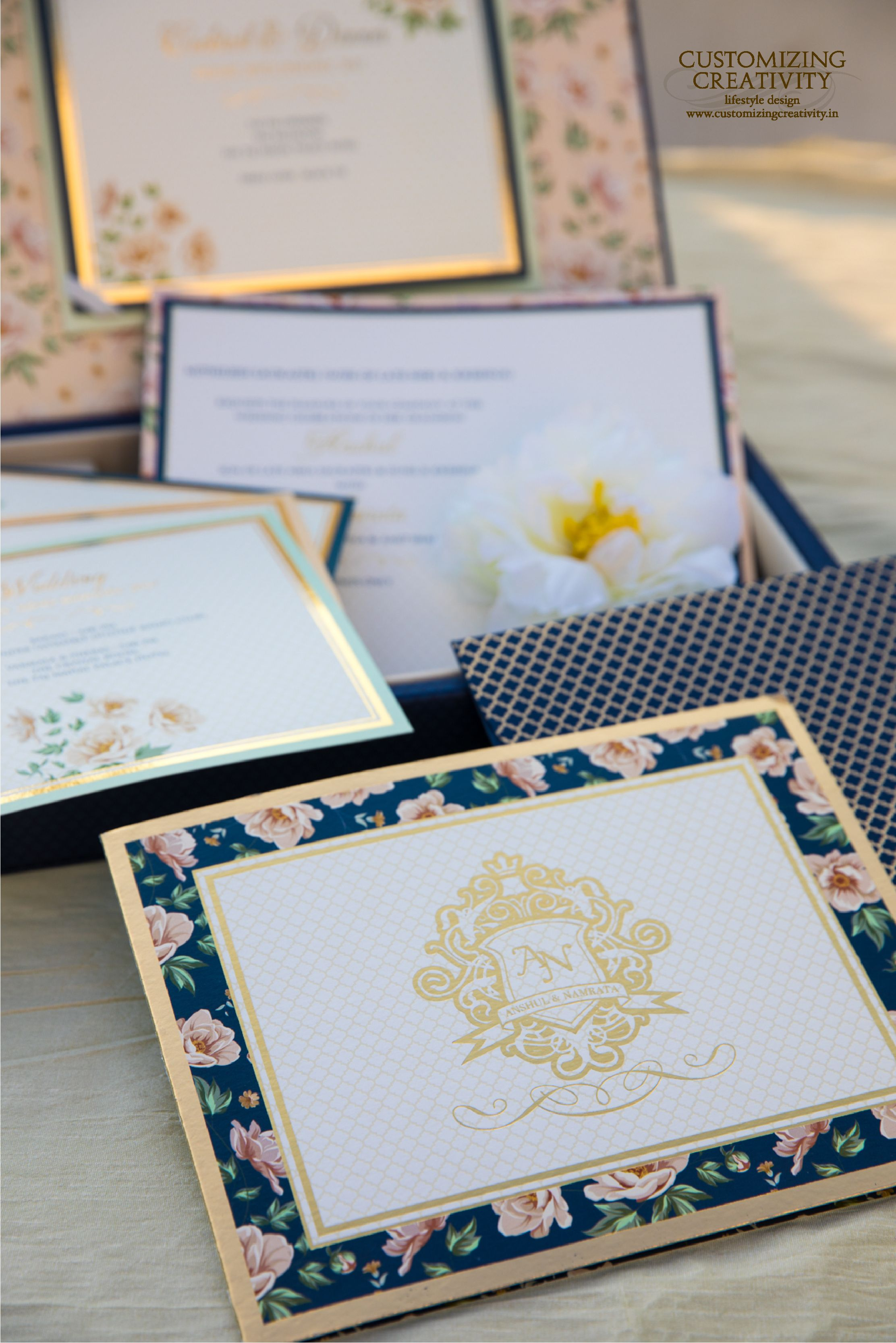 Wedding Invitation Cards Indian Invites Stationery Customized Invitations Custom Gold Foiling