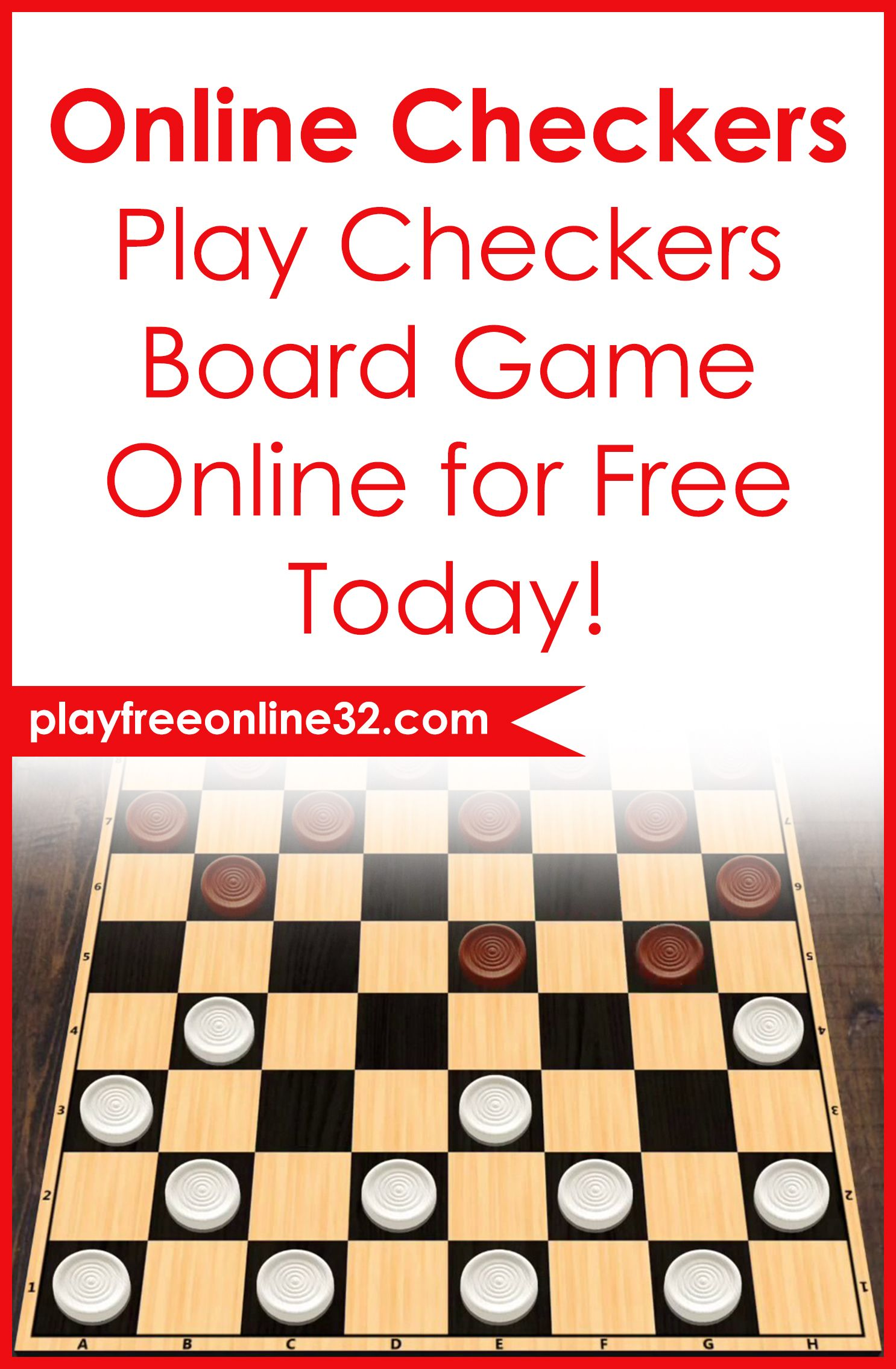 Online Checkers • Play Checkers Board Game Online for Free ...
