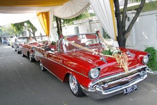 Exceptional Vintage Car Rental: The Red Convertible U002757 Chevrolet Bel Air