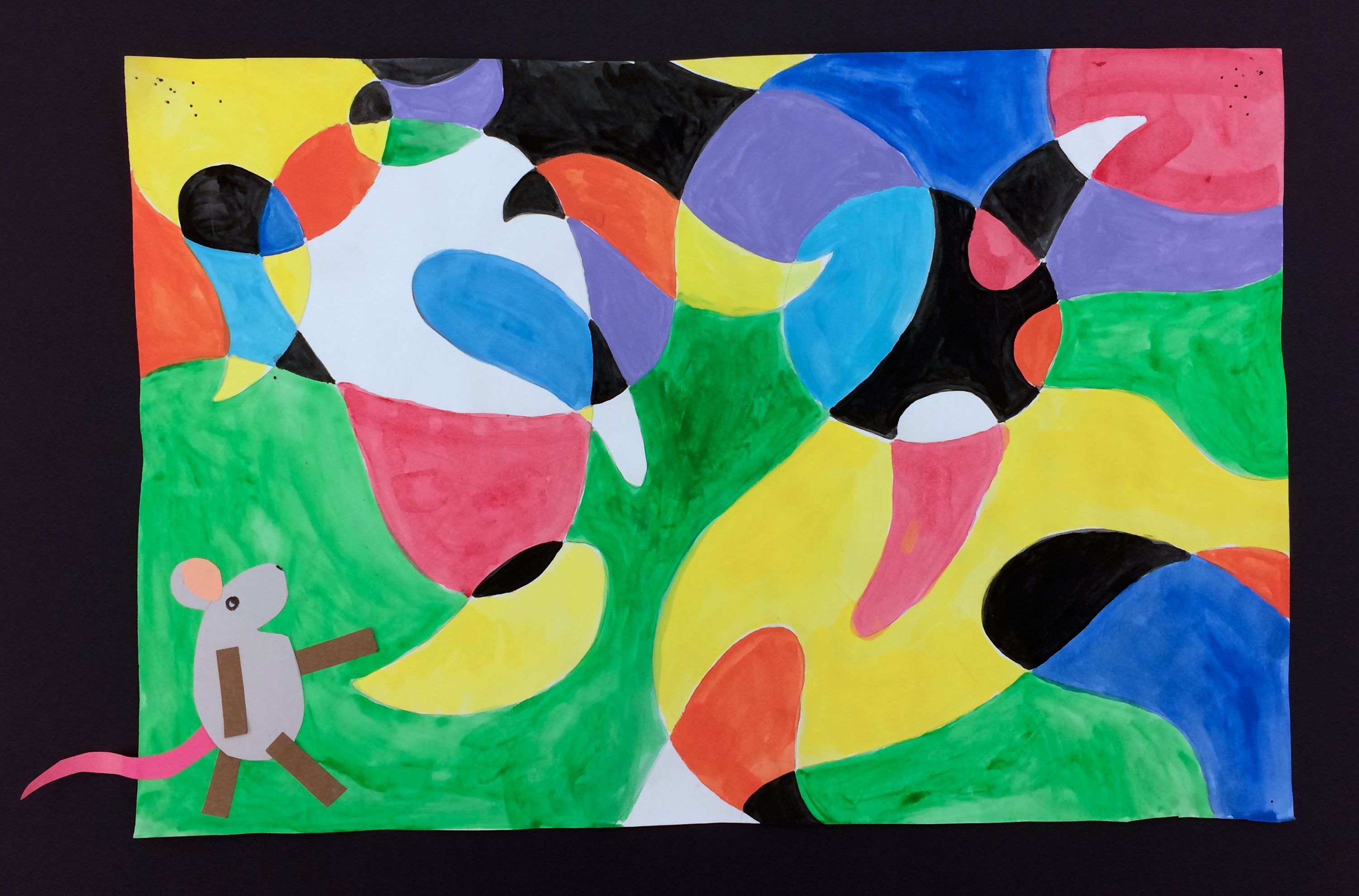 Matthew' Dream Abstract Art Painting Grade Project