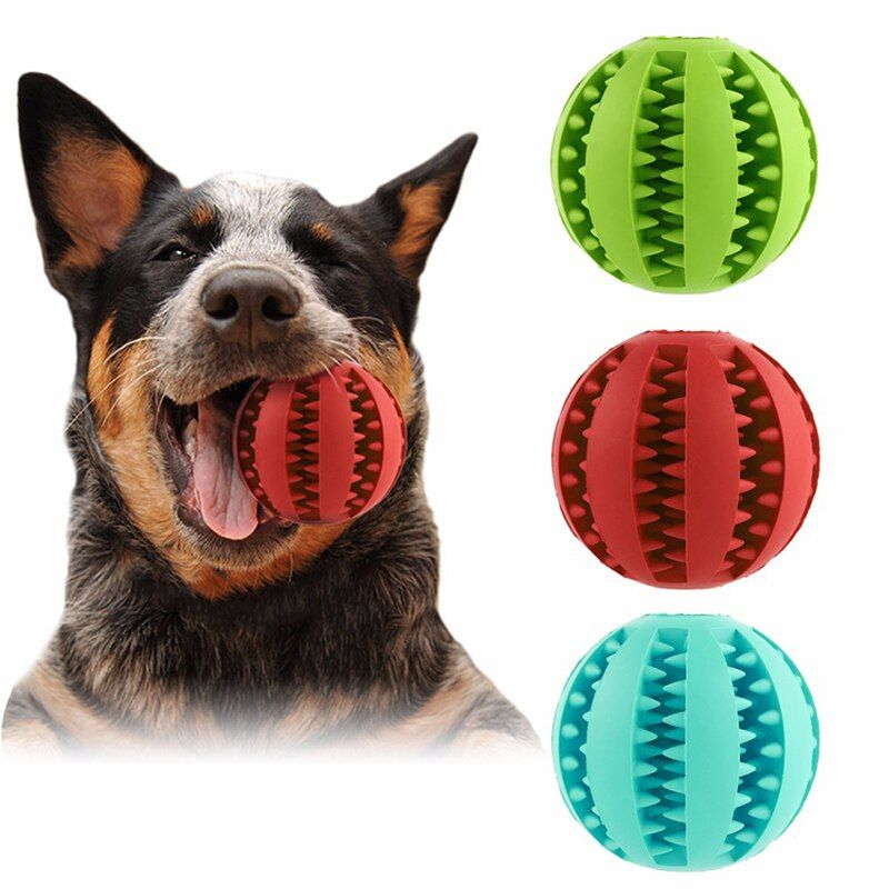 Dog Leakage Ball Rubber Toy Pet Chew Leakage Food Outdoor Play