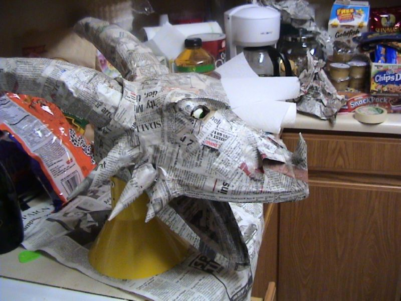 how to make paper mache chyrches