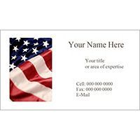 Free Avery Templates American Flag Business Card 10 Per Sheet Avery Labels Cards Templates