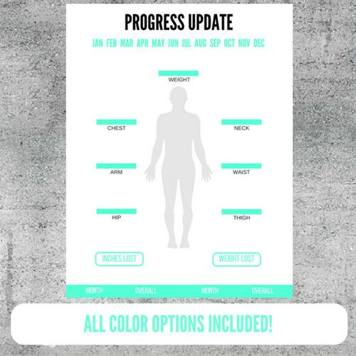 graphic relating to Printable Body Measurement Tracker identify Printable bodyweight and entire body dimensions improvements enhance