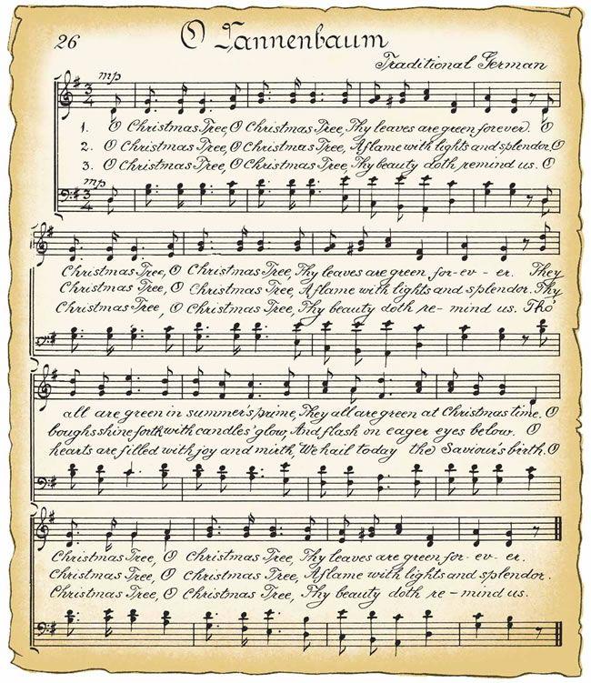 Free Vintage Clip Art Vintage Christmas Song Sheet And Candy Cane Christmas Sheet Music Christmas Carols Lyrics Music Notes Art