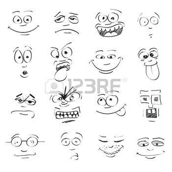 Expression Visage Mettre De L Emotion Sur Les Visages De Bande