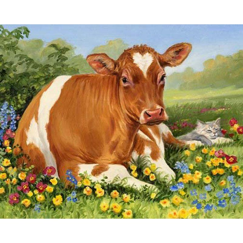 Корова в картинках анимация