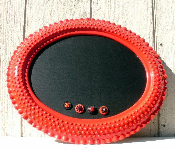 CHALKBOARD Vintage Hob Knob Frame Magnetic Chalk by cdmdesign, $69.95