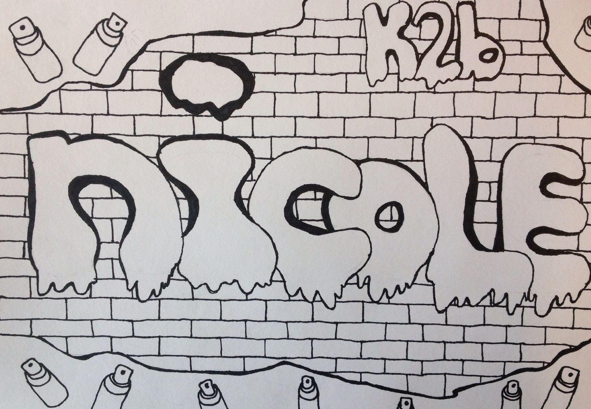 how to draw nicole in graffiti
