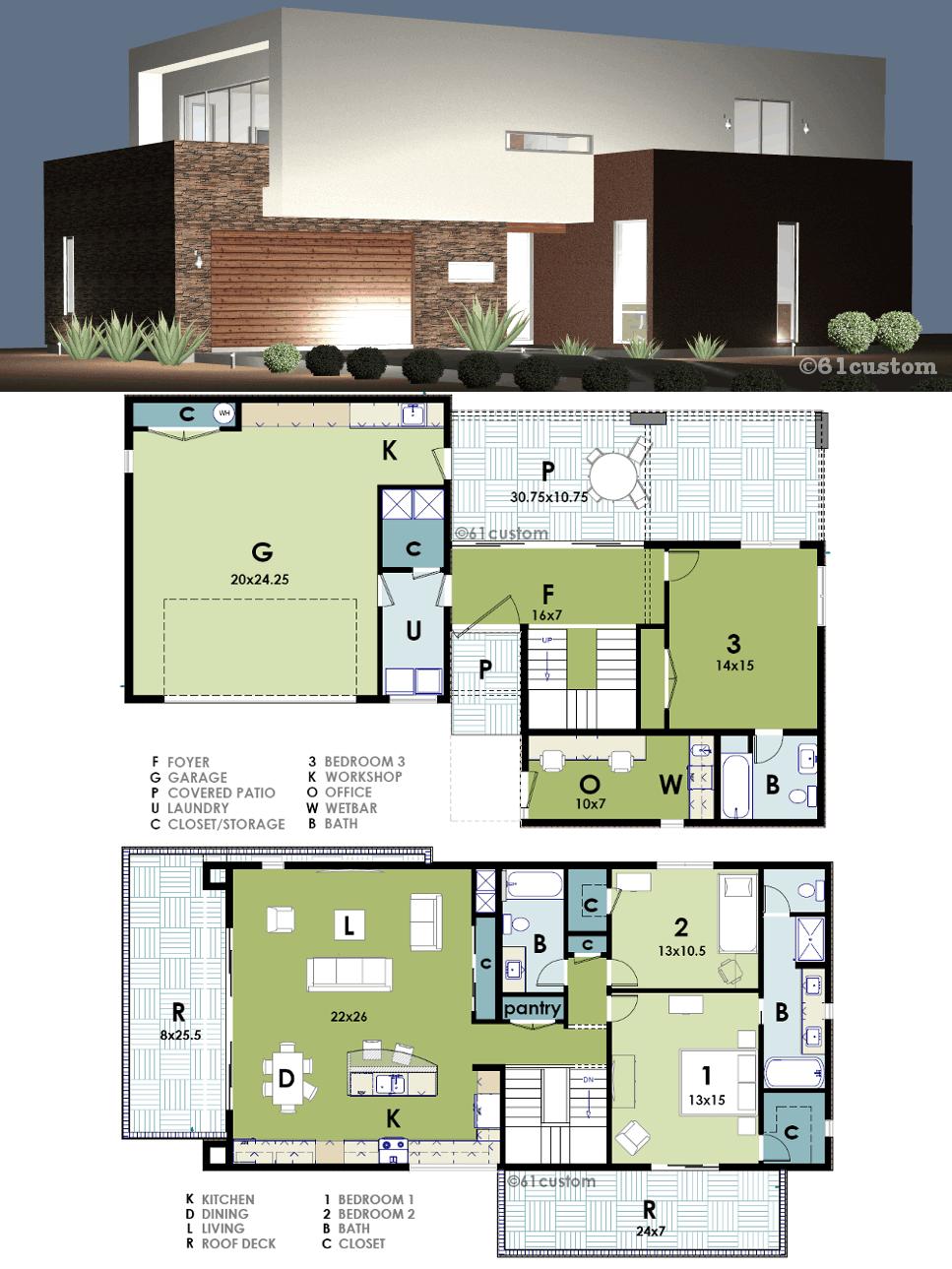 Modern Live Work House Plan 61custom In 2019 Modern
