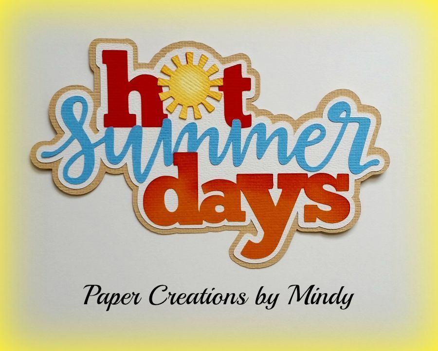 CRAFTECAFE MINDY BEACH DAY VACATION premade paper piecing TITLE scrapbooking