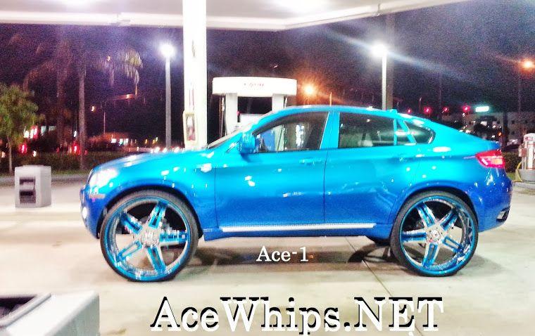 """candy teal bmw x6 on 30"""" asanti af506 wheels 5 star split wheels"""