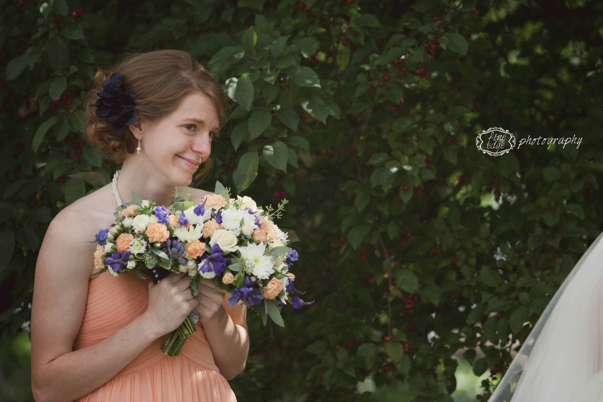 Soft peach tones with dark blue accents weddings pinterest