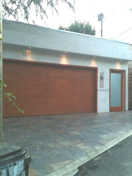Lucas Modern Flush Style Custom Wood Garage Door In 2019
