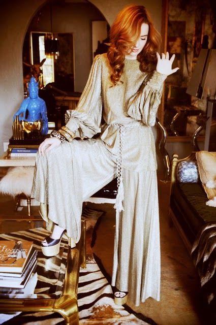 slinky studio 54 jumpsuit 70s vintage fashion inspiration i 39 d wear it kleidung stil 70er. Black Bedroom Furniture Sets. Home Design Ideas