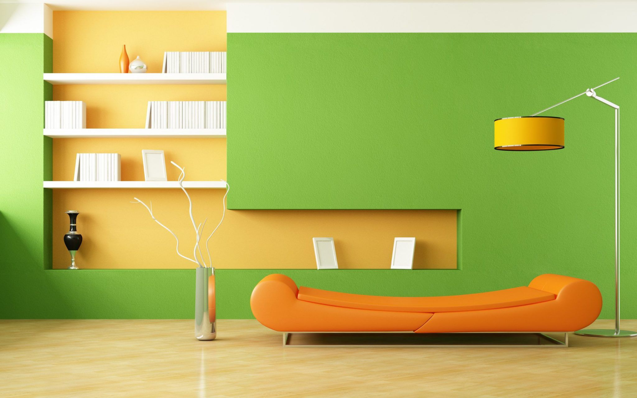 Decorating And Interior Design Tips For Orange Wallpaper Living