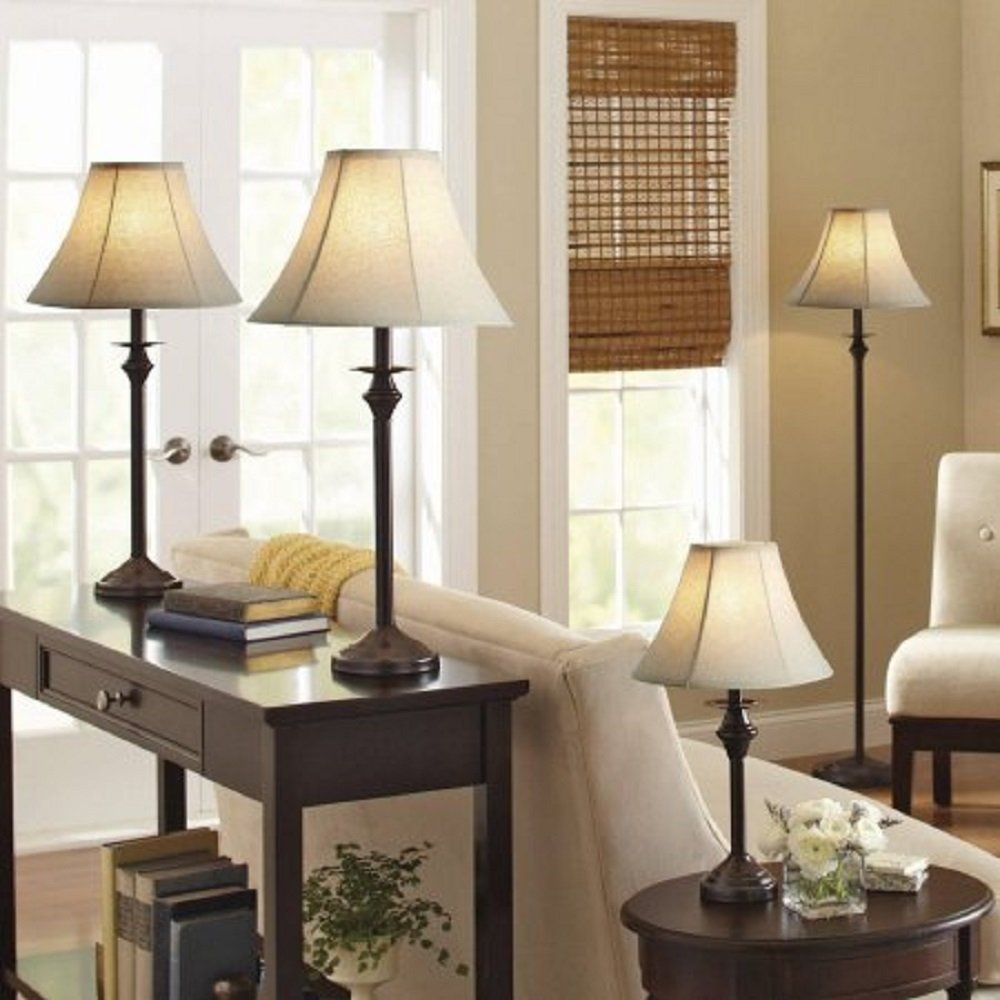 Better Homes and Gardens 4pc Lamp Set (Dark Brown)