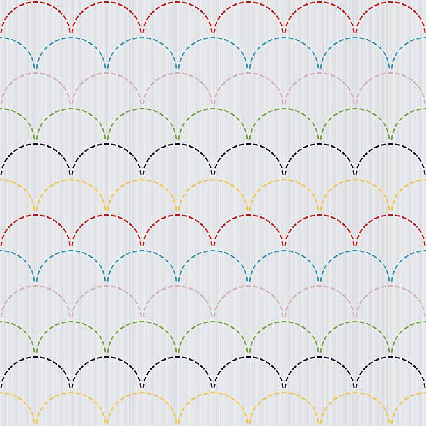 Traditional Japanese Embroidery Ornament Sashiko motif – colorful…