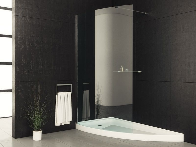 acrylic panels for bathroom walls%0A DESCRIPTION SKU  Drain not included  Left or Right is determined by  plumbing FEATURES threshold for easy entry and exit Integral tile flange  glass door