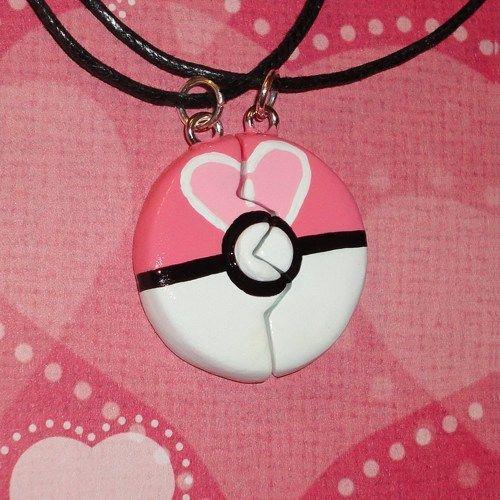 Love Ball Friendship Necklace Set