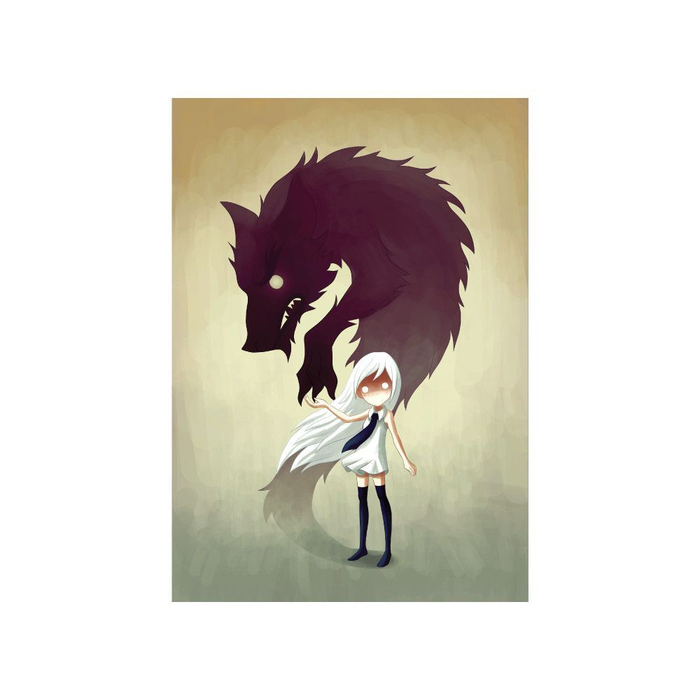 - Product: wall decal reproduction of digital werewolf ...