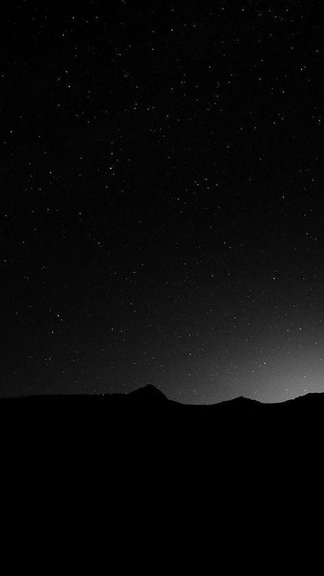Dark Night Sky Silent Wide Mountain Star Shining Iphone 5s