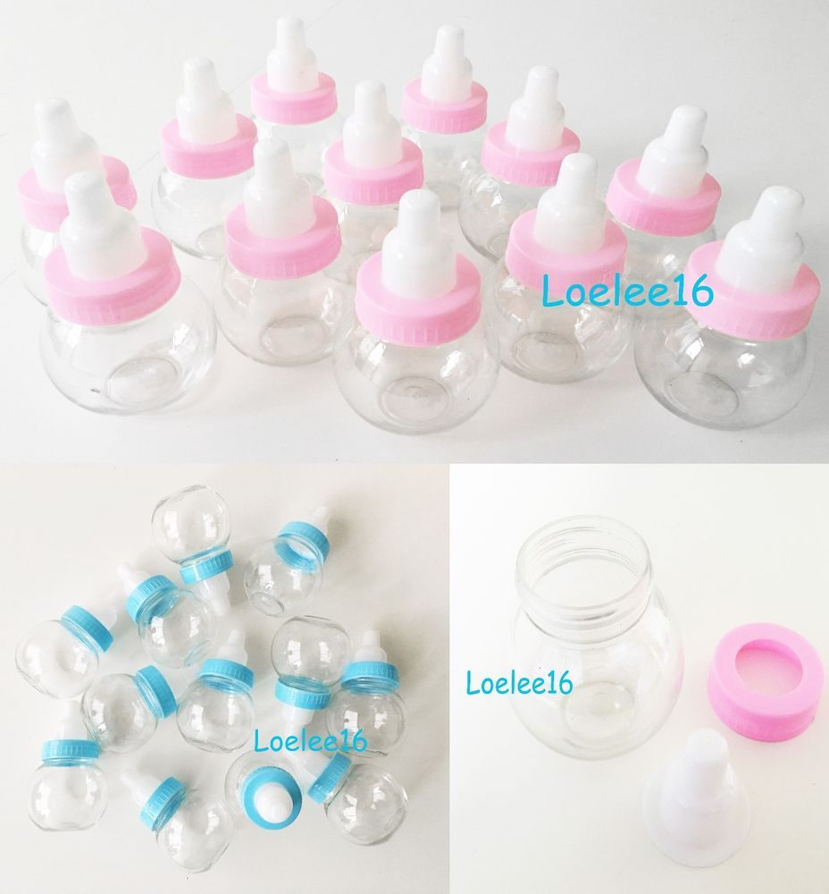 Milk Bottles For Decoration Details About 12 Fillable Bottle Baby Shower Favors Decoration