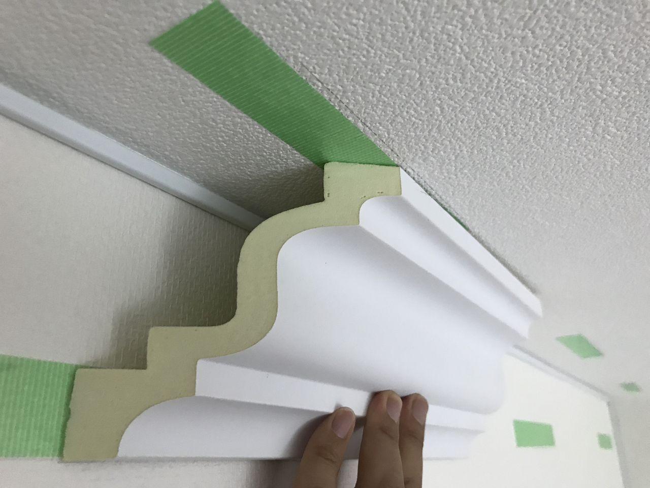 賃貸の部屋にdiy モールディングの取り付け方 Tsutsumiのblog