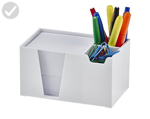 Acrimet Desk Organizer Pencil Paper Clip Holder White Color With Paper Refine Your Workspace Amazon Partner Link In 2019 Desk Organization Pencil Holder Desk