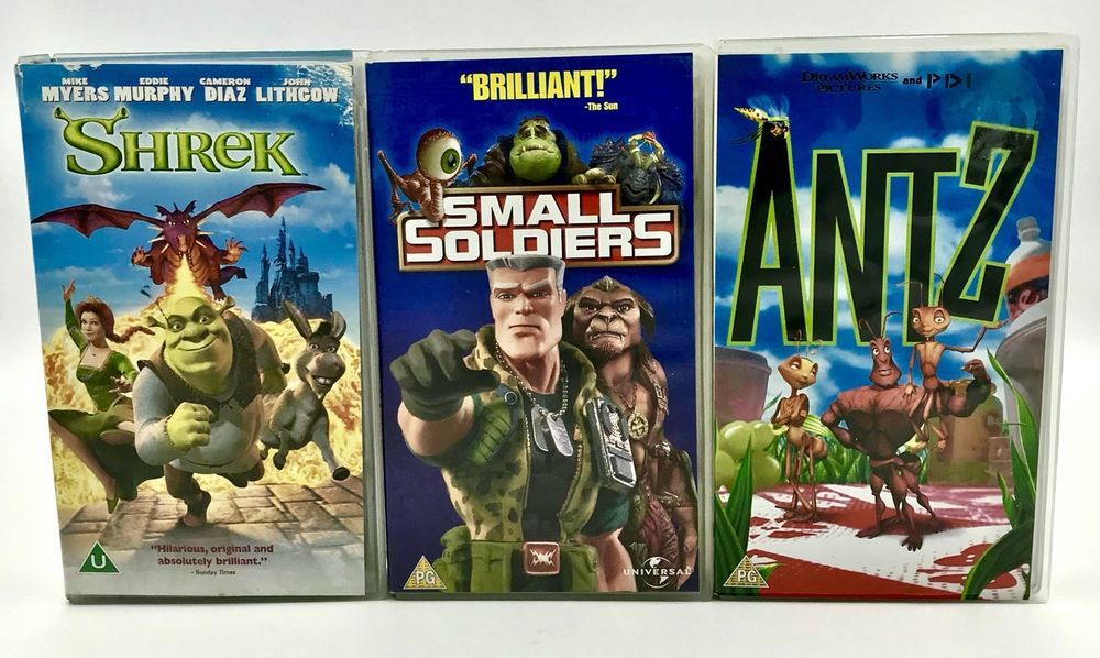 Vhs Video Tapes X3 Shrek Small Soliders Amp Antz Certs U Amp Pg Kids Family Movies Kids Family Movies Family Movies Shrek