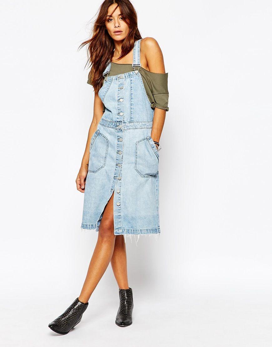 19eace899e05100 С чем носить джинсовый сарафан (64 фото): образы, сарафан на бретелях,  лямках