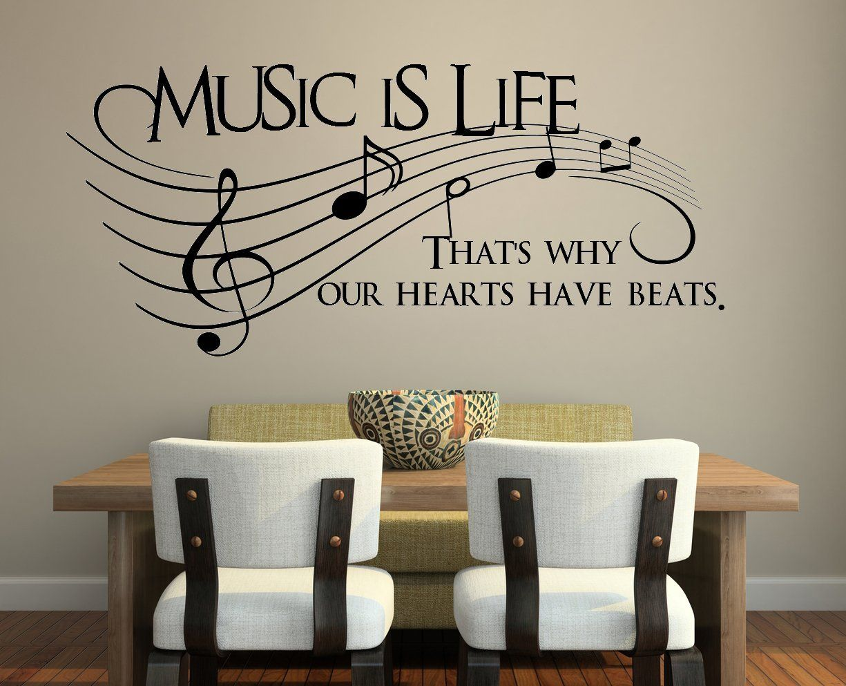 Wall decals · Amazon.com - Music Is Life.. Thatu0027s Why Our Hearts Have Beats  Vinyl