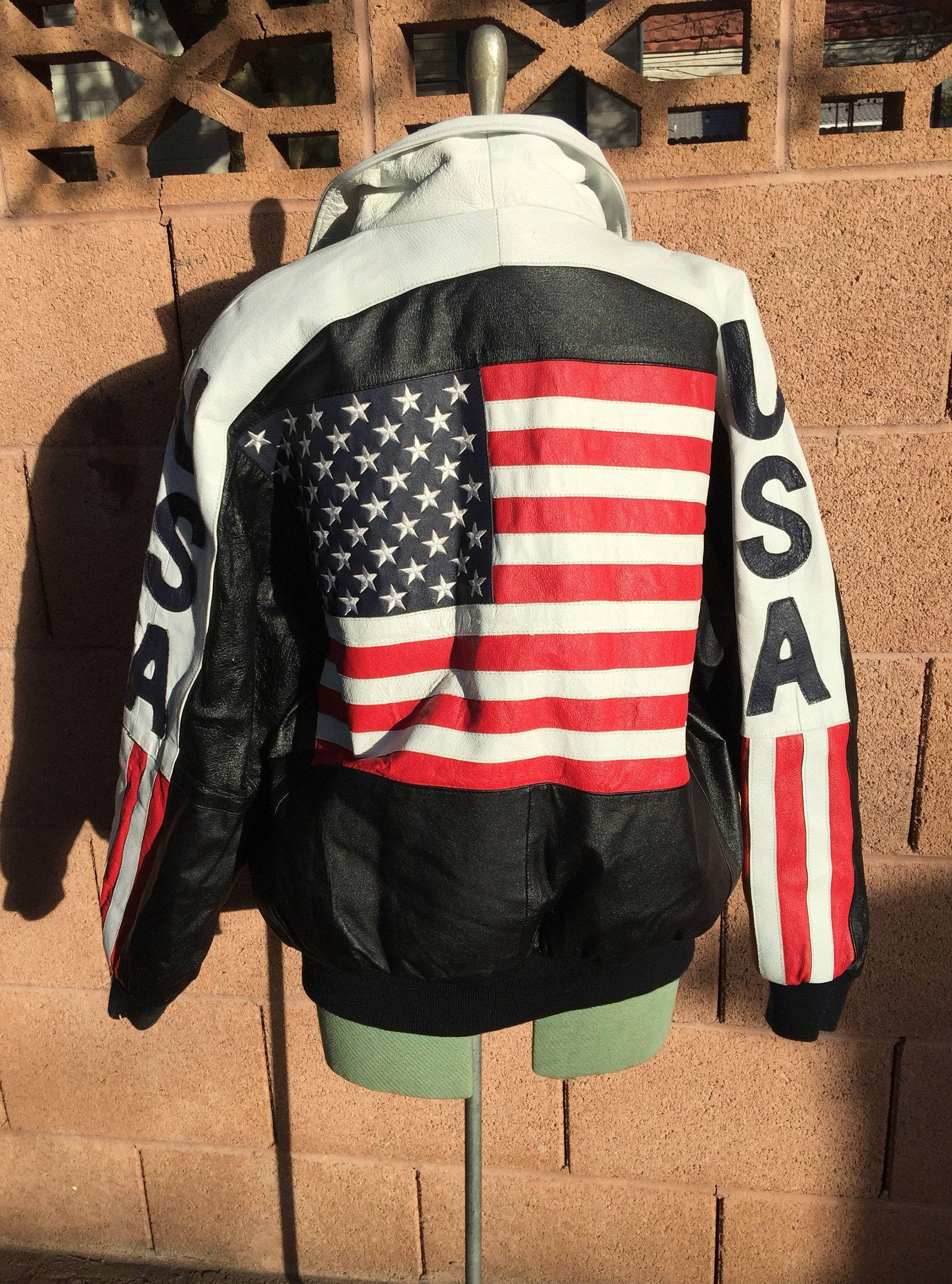 Vintage 90 S Michael Hoban Usa Leather Jacket Etsy Usa Leather Leather Jacket Leather