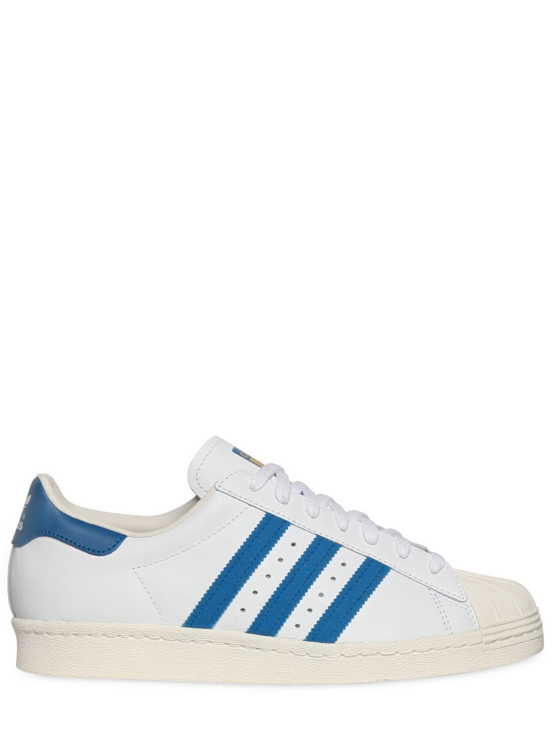 cb11575f0 ADIDAS ORIGINALS - SUPERSTAR 80'S LEATHER SNEAKERS - LUISAVIAROMA - LUXURY  SHOPPING WORLDWIDE SHIPPING - FLORENCE