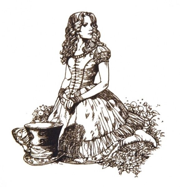Alice In Wonderland Art | Tim Burton's Alice in Wonderland ...