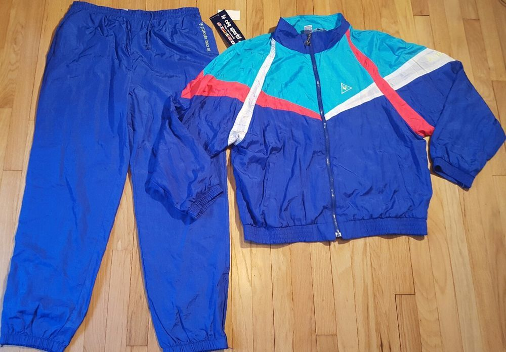 c6d2c6e71 LE COQ SPORTIF vintage windbreaker track suit XL jacket pants warm up 90s  color #LeCoqSportif #Windbreaker